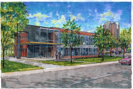 Artist's rendering of the new Crews Ventures Lab located near the University of Memphis campus