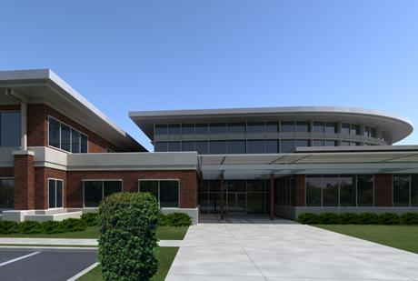 Artist's rendering of Professional Building designed by Memphis architecture firm A2H and part of a $55 million expansion project at Bethel University in McKenzie, Tenn.