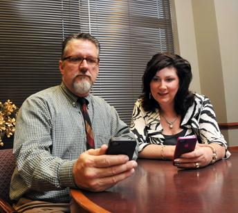 Todd Styles and Nancy Averwater explore a new app that will expedite patient visits at Baptist Minor Med centers.