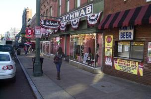The A. Schwab properties on Beale Street, built in 1890, sold for $1.86 million. It was the first sale of the largely city-owned entertainment district in recent history.