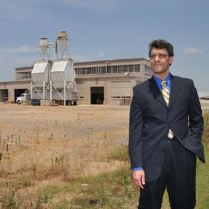 EDGE president Reid Dulberger at the former Memphis Defense Depot, which used to be a brownfield site