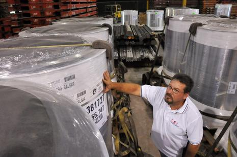 CMI terminal manager Mike Wilmoth with metal shipments