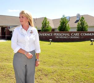 Candice Sorrells, administrator of Providence PCC in Senatobia, says many people have a 'blanket picture' of what an assisted living facility is.