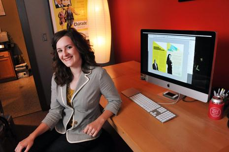 Memphis College of Art graduate Katie Benjamin had an internship at advertising and marketing firm Combustion, where she now works as a graphic designer.