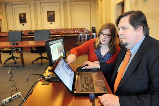 Lynsey Mitchell and Ted Miller are partners in Court Services Inc., which assists attorneys in presenting evidence to enhance a jury's understanding of a case.