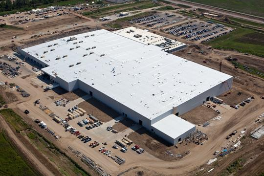 Aerial view taken Aug. 7 of Electrolux plant at Frank C. Pidgeon Industrial Park