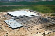 Aerial view of Electrolux Home Products' manufacturing facility construction at Pidgeon Industrial Park