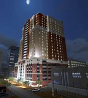 The proposed $45 million Gayoso Place, designed by Renaissance Group, included a 16-story apartment building.
