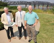 Charlie McVean, Charles Newman and Greg Maxted are instrumental in launching and continuing the Harahan Bridge Project.