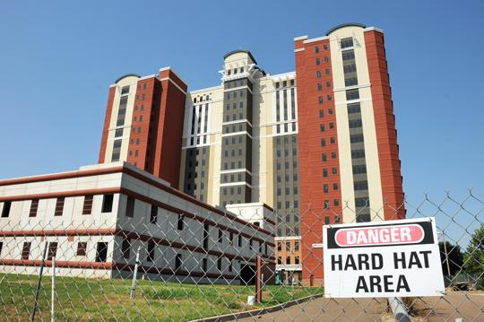 The unfinished Horizon condo tower on Riverside Drive may be headed for a sale if litigation wraps up, as expected, this year.