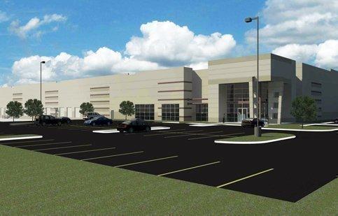 Artist's rendering of Crossroads Distribution Building planned by developer IDI