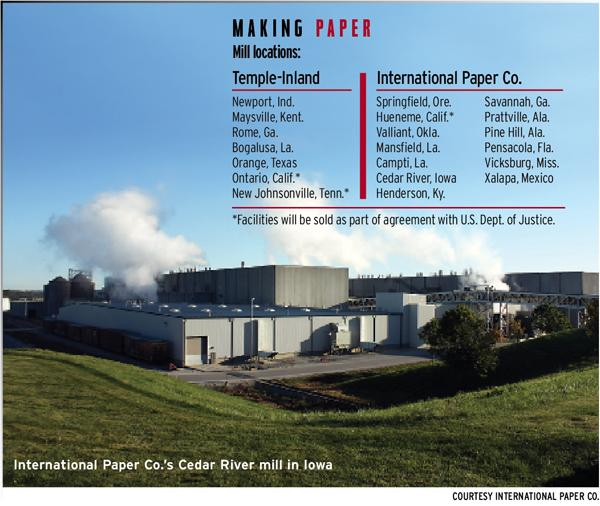 International Paper closes on the sale of 3 mills as part of