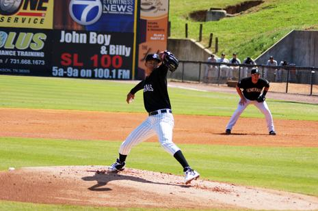 Taijuan Walker, the Seattle Mariners' No. 1 pitching prospect, is playing is Jackson, Tenn., right now.