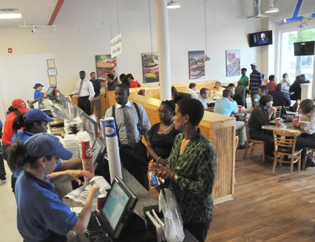 Lenny's Sub Shop's Downtown location draws a steady crowd of customers. The company's Social Wednesday campaign has increased franchisees' sales by 9 percent.