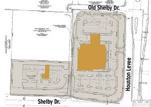 Site map of a planned new Mercedes-Benz dealership and car wash in Collierville