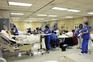 Students at University of Tennessee Health Science Center's College of Nursing