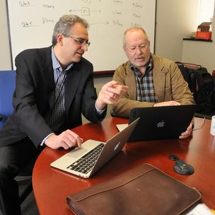 Brad Silver and Joe Ketcherside at Quire, which is entering the more lucrative health care market.