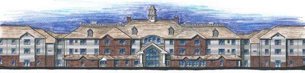 Artist's rendering of $25 million Robinwood Retirement Community in Bartlett