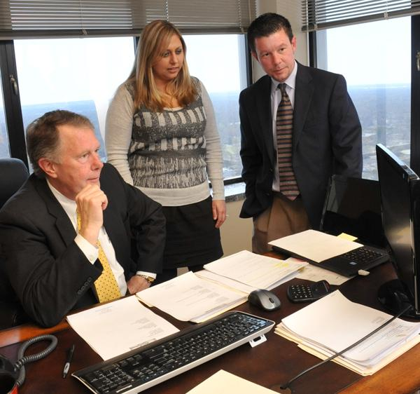 Jack Hatfield, Tiffany Osbahr and Jason Hatfield at Hatfield & Associates, which started as a logistics consulting firm but now offers a full line of services.