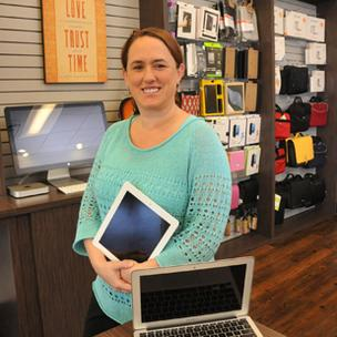 Mignonne Wright's MacAdvantage is one of the few certified Apple products repair specialists in the state.