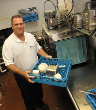 Pat Taylor has tried many strategies to keep costs down at Cleaner Solutions, and found a good fit when his primary product supplier moved into the same facility.