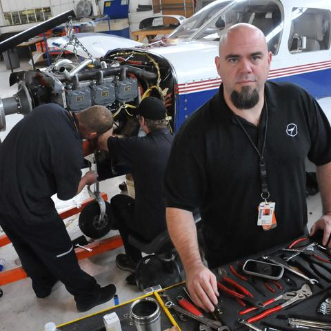 Mike Silvius co-founded Total Air Group LLC, also called TAG, just before the recession hit and has added fleet management and component repairs to help sales.