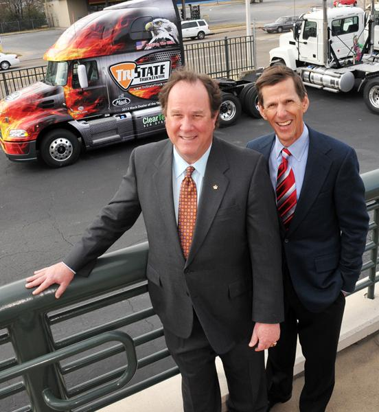 Rodney and Jim Maddox at Tri-State Truck Center. Margins are thin in the sales side of the business, so there is a pronounced focus on service and training personnel.