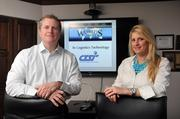 "Brian Scott and Misty Farmer Koopman at Memphis logistics technology company CTSI-Global. CTSI will be featured in a ""World's Greatest"" TV show this spring."