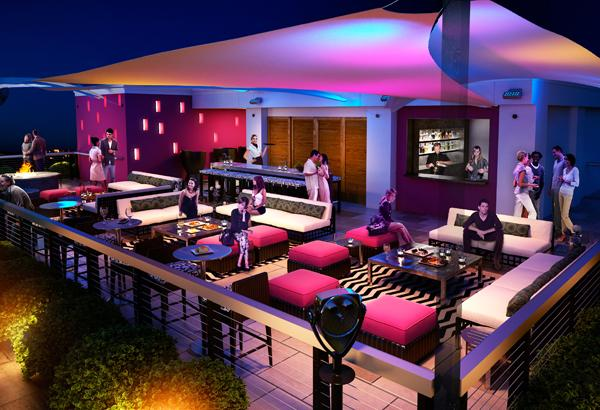 Artist's rendering of Madison Hotel's new Twilight Sky Terrace, which will be open daily with offerings of custom-crafted cocktails and a special menu.