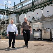Pete Tchouros and Chip Westbrook at specialty chemical manufacturer Buckman, which faces a potential skilled worker crisis