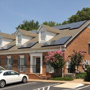 Dentist Scott Edwards used a $36,000 grant from the Tennessee Valley Authority to install this $94,000 solar array on his dental office.