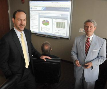 Jerry Corless and Randy Flatt with Memphis MidSouth Financial Group are big fans of a retirement planning software from eMoney Advisor LLC.