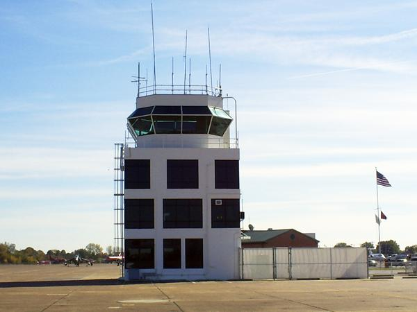 Millington Regional Jetport's air traffic control tower is normally manned by seven controllers who are paid by the FAA.