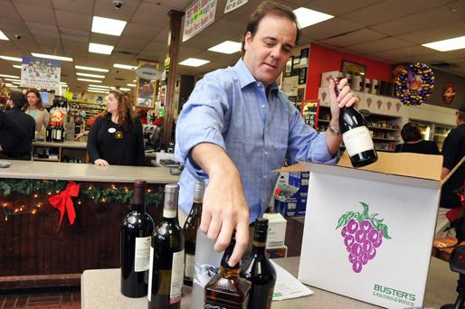 Buster's Liquor's president Josh Hammond says customers have responded to a new initiative that allows placing orders online, then making in-store purchases.