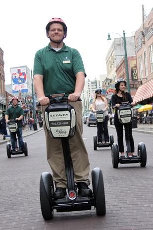 Segway Experience of Memphis is offering discounts to visitors dressed like Elvis or Priscilla Presley this week.