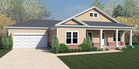 Artist's rendering of model for homes planned for Wolf River Bluffs subdivision