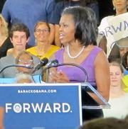 First Lady Michelle Obama visited Milwaukee Thursday.