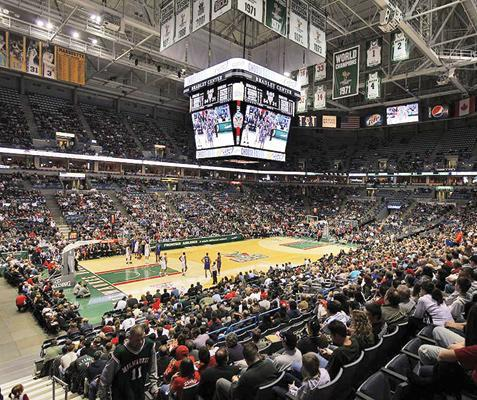 The Milwaukee Bucks' playoff games against the Miami Heat will help boost the year-end attendance total.