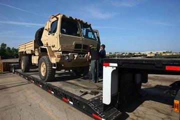 Oshkosh Corp. was among Wisconsin companies recently awarded large contracts from the U.S. Department of Defense.