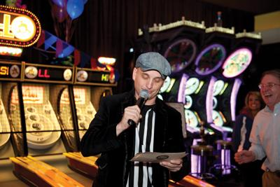Dave & Buster's works to create a festive atmosphere for the over-21 crowd with food and games.