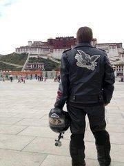 Richer had worn the jacket on a ride across the Tibetan Pleateau.