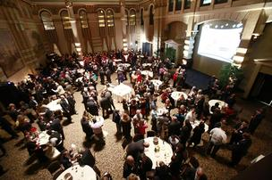 The event drew more than 400 city and community leaders to the Grain Exchange in downtown Milwaukee.