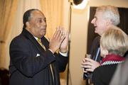 Larry Stephens of We Energies chats with Milwaukee Mayor Tom Barrett.