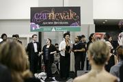 The Milwaukee High School of the Arts jazz group performs before the auction.