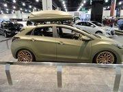 Hyundai Elantra GT with matte green paint