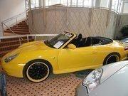 A Porsche on display at Harry Kaufmann Motorcars Inc.'s booth.