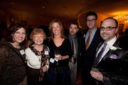 Forty under 40 winner David Caruso (right), of Dynamic Events, with some of his guests.