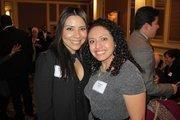 40 Under 40 winner Griselda Aldrete of Hispanic Professionals of Greater Milwaukee and Bianca Ortiz of St. Norbert College