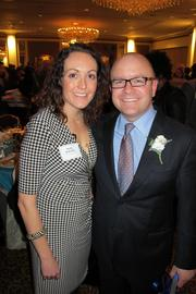 Molly McEvilly and 40 Under 40 winner Matthew Lueder of Northwestern Mutual Milwaukee District Office