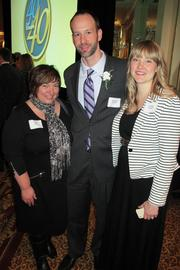 (From left) Carol Voss of IndependenceFirst, 40 Under 40 winner Matt Howard of the city of Milwaukee and Melissa Howard